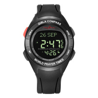 Prayer Watch for Muslim People Qibla Pray Watch with Compass Customized digital Auto Update