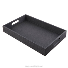 Cheap Price Pu Leather Home Valet Serving Trays Or Jewelry Tray , Key ,Sundries Tray