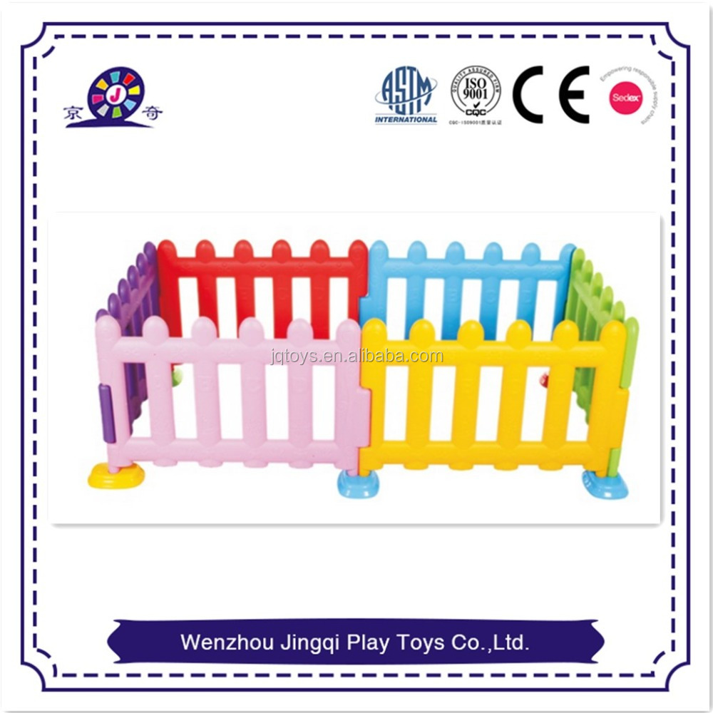 colorful plastic pool fence for kids / cheap playpen for babies for home room