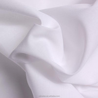100% cotton/pure cotton bleached white color woven fabric
