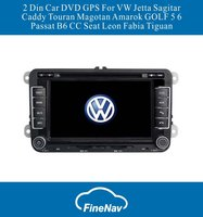 A8 Chipset 3G 2 Din Car DVD GPS For VW Jetta Sagitar Caddy Touran Magotan Amarok GOLF 5 6 Passat B6 CC Seat Leon Fabia Tiguan