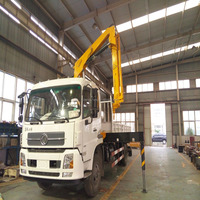 hydraulic arm flatbed truck with mounted crane 5tons