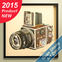 2015 hot new antique creative fashion camera wall decor for interior decoration/ art interior decoration