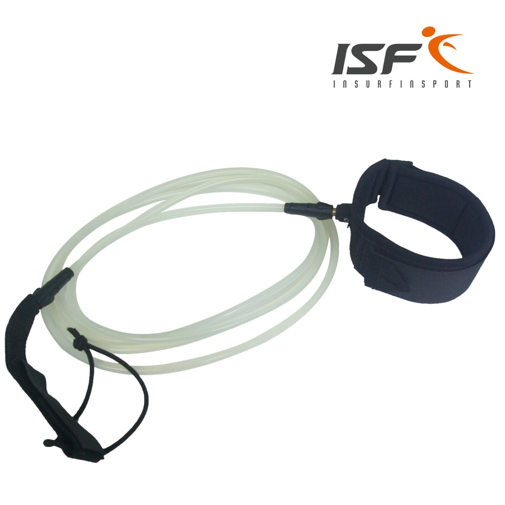 High performance surf leash straight leg rope PU cord soft strap