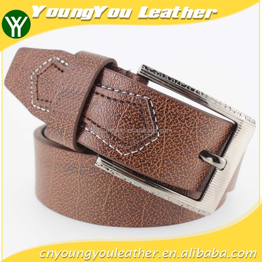 2015 NEW fashion pu belt for jeans men with shape leather in yiwu