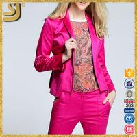 Cotton fabric womans winter coats jackets, red colour woman blazer designs, button jacket blazer ladies