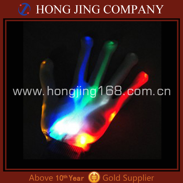 Craft decorated flashing led gloves