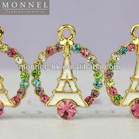 H247-1 MONNEL Wholesale Rainbow Crystal White Eiffel Tower Pendant DIY