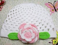 Sweet owl shaped children's hats and caps baby girls crochet beanie hats for kids white color