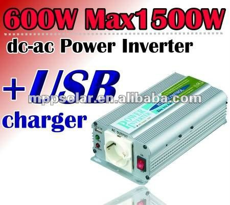 600w output surge 1500w car power inverter USB charger