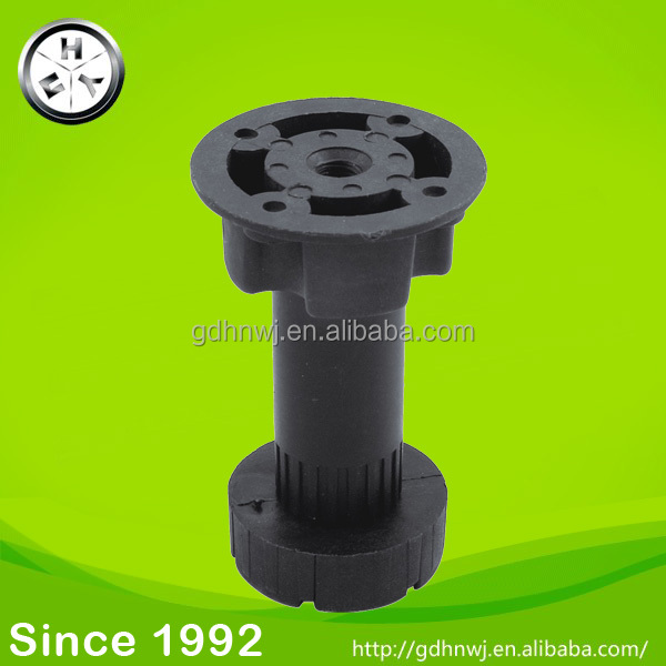 ABS/ PP plastic furniture leg adjustable feet for cabinet