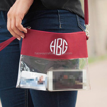 2018 Hot sell 5 Colors Women's PVC Clear Clutch Transparent Handbag Purse Casual Messenger Bag
