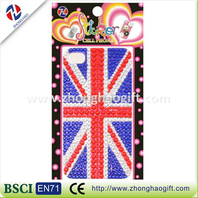 Rhinestone flag Acrylic Cell Phone Case