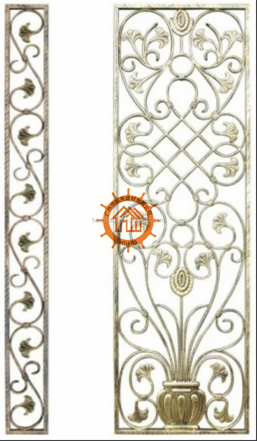 2016 top selling steel window grills pictures HL-I-W-039