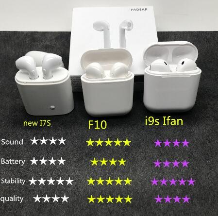 f10 Wireless Headset, TWS Stereo Bluetooth Headset with Charger, Mini built-in headphones for iPhone and for samsung