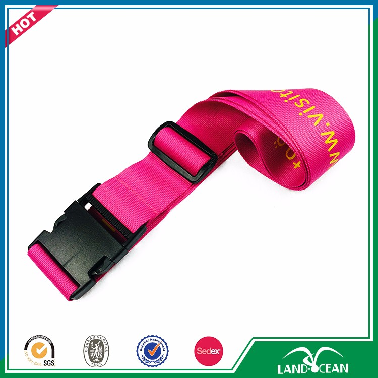 Top quality logp print airport luggage tag strap belt