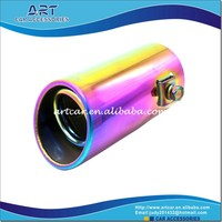 multicolour good performance car exhaust muffler