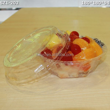plastic disposable bowl food grade disposable plastic salad bowl with lid