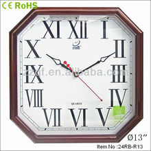 Roman number polygon shape european wall clock