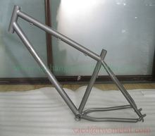 titanium mountain bicycle frame 29 er factory direct supply ti mtb bicycle frame OEM titanium bicycle frame with high quality