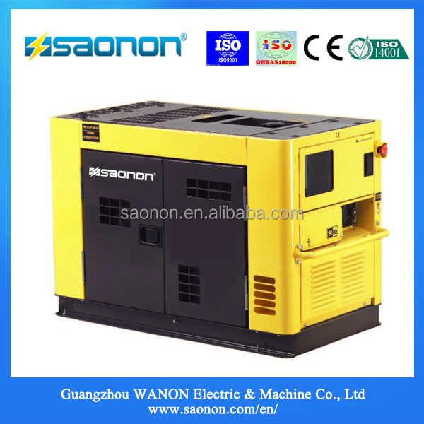 China factory 12.65kva Super Silent Portable Diesel Generator set for home use