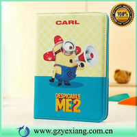 For iPad Mini Despicable Me Minion Leather Case Flip Cover For iPad Mini