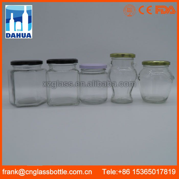 DH Ce Certified Clear Cheap Square Honey Glass Jar With Plastic Lids For Food Sealing Tin Dome Brisbane Bath Salts