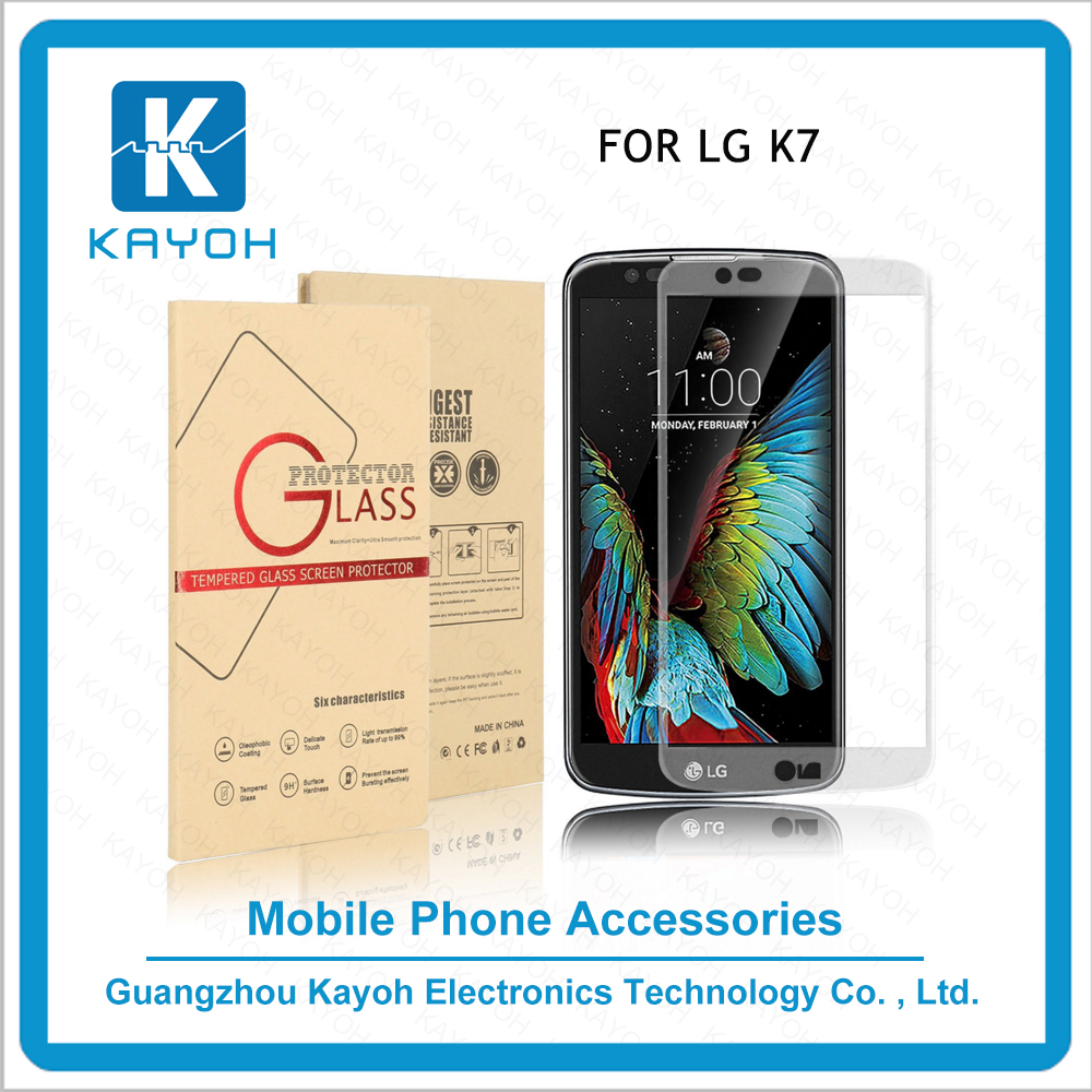 [kayoh]nuglas screen protector anti-broken tempered glass for LG K7 Silk-screen printing mobile