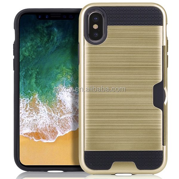 2017 PC TPU heavy duty shock proof card holder 360 cell phone case <strong>cover</strong> for iPhone 8
