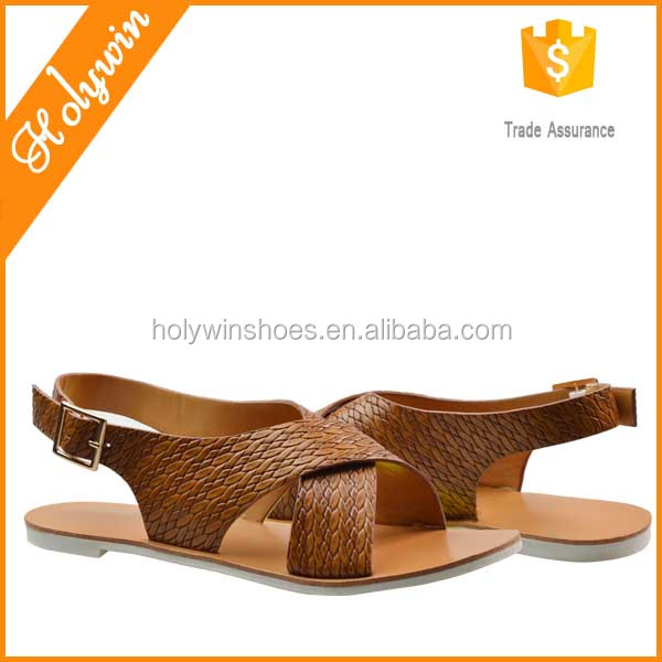 Hot Sale Summer Cross Thong Beach Sandals Ladies Sandals Flat Sandals