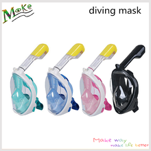 Dropship safe and waterproof anti fog full face diving mask snorkeling set respiratory masks