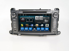 Quad core car dvd player with gps,wifi,Bluetooth,mirror-link,DVR,Games,Dual Zone,SWC for toyota Sienna