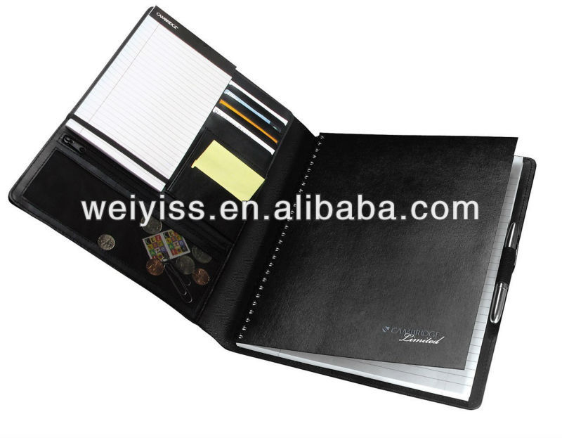 Men Leather Portfolio/NoteTaker Notebook