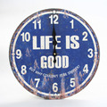 Vintage Rustic Wooden Clock Decorative Raw Wood Wall Clock London Clock for home decoration