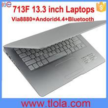 13.3 inch Laptops Android 4.2 Laptops with Via8880 A9 Dual Core RAM 1GB ROM 8GB Low Price 713F