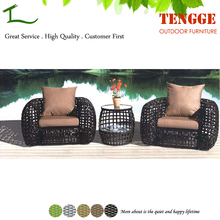 Outdoor leisure furniture large rattan garden sofa set in 3 pieces