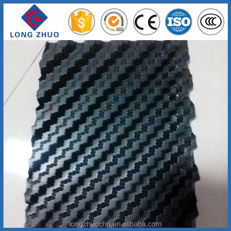 PVC sheet Pitch 12/15mm cooling tower infills, Counter Flow cooling tower filter packing