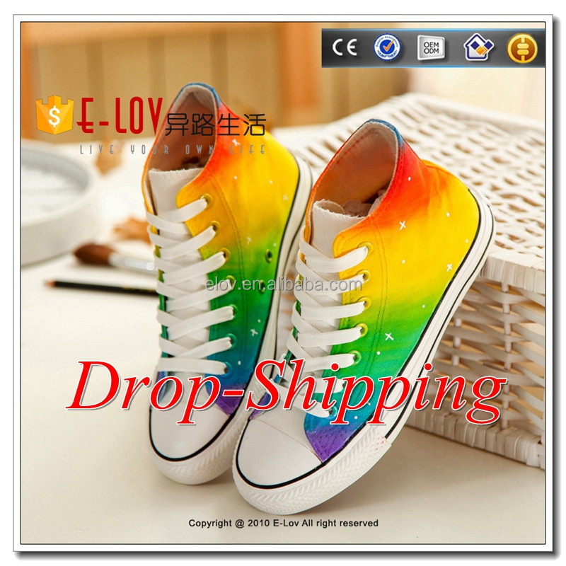 Hot sale drop shipping hand painted shoes super star shoes