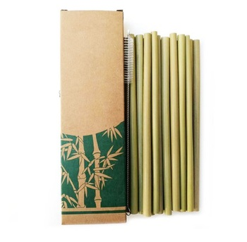 100% Natural Bamboo Drinking Straws Reusable Eco-Friendly Party Kitchen with custom LOGO