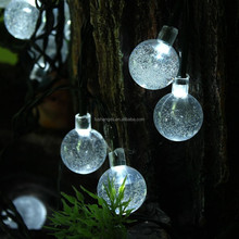 China led lights supplier hanging outdoor christmas led crystal glass ball light