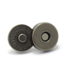 Light black round metal magnet button for purse and bag