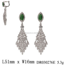 New Arrival Luxury Wedding Jewelry Cubic Zirconia Cluster Dangle Earring