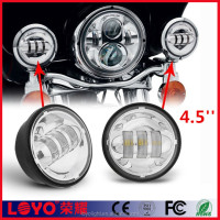 Top Sale 4.5inch Chrome LED Auxiliary Spot Fog Passing Light Lamp for Jeep Tractor Boat Led Fog Lamps for Motorcycles
