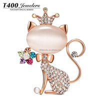 T400-2016 Fashion Brooches Cat Queen Jewelry#5620