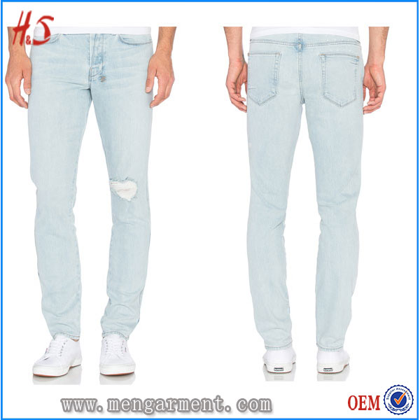Most Fashion Damaged Jeans Of Jeans New Designs Photos For Wholesale UK With Front And Back Pockets