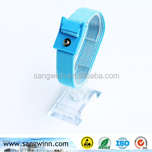 4mm snap Blue Antistatic ESD wrist band strap with Ground cord