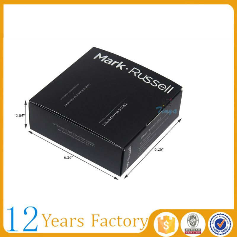 black square packaging boxes for clothes luxury