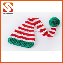 Cotton Baby Boy Girls Infant Unisex knitted Christmas Hat Beanie Cap Santa Photo Props 2015