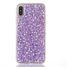 Phone Case for Apple iphone X Case Bling Bling Glitter Rubber TPU Gel Soft Mobile Phone Cases Cover