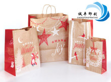 kraft brown paper packaging bag for X-mas gift